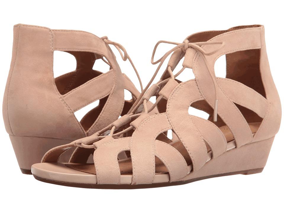 Clarks - Parram Lux (Nude Suede) Women's Sandals
