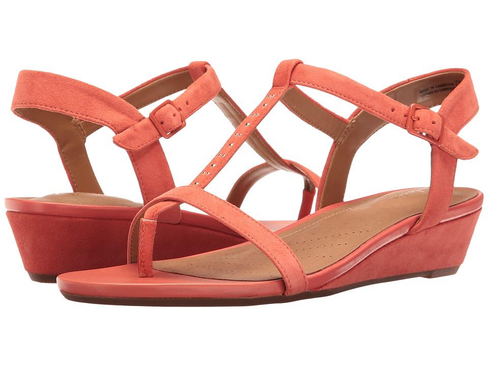 Clarks - Parram Blanc (Coral Suede) Women's Sandals