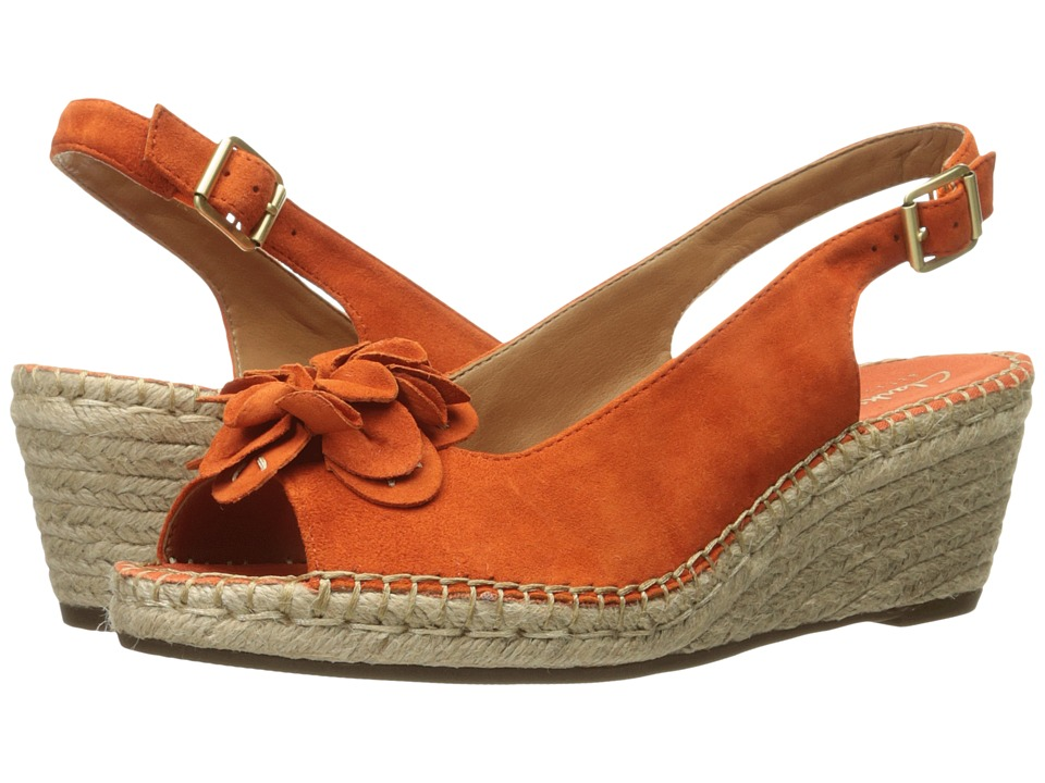 Clarks - Petrina Bianca (Orange Nubuck) Women's Sandals