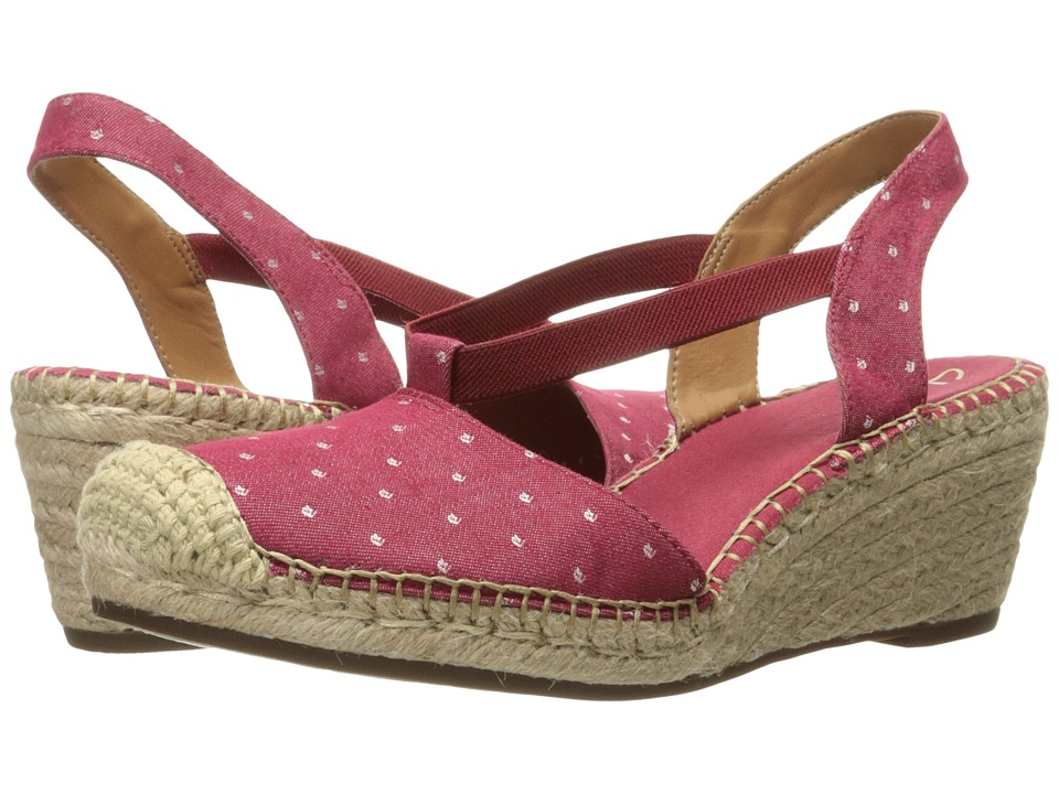Clarks - Petrina Kaelie (Red Fabric) Women's Sandals