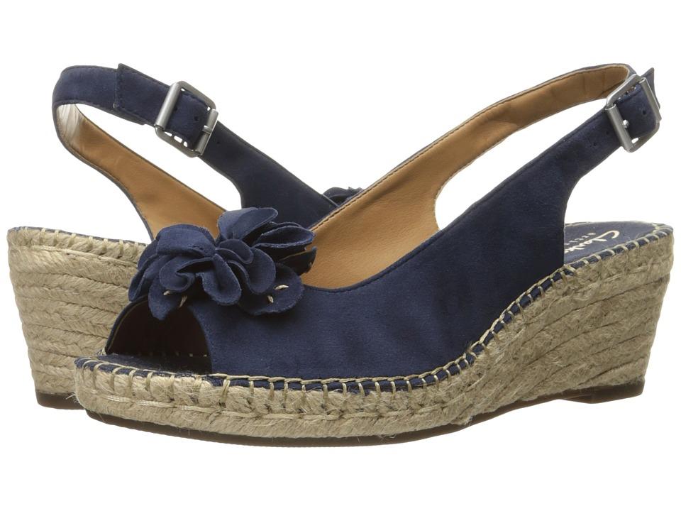 Clarks - Petrina Bianca (Navy Suede) Women's Sandals