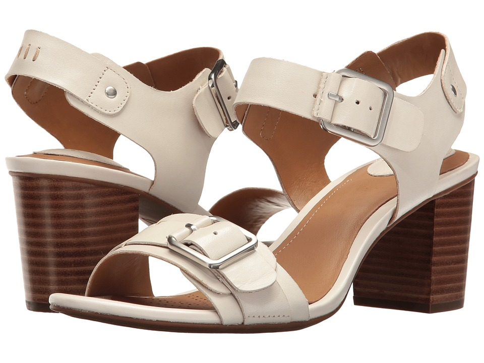 Clarks - Ralene Dazzle (White Leather) Women's Sandals