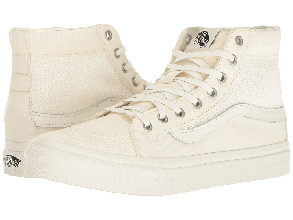 Vans - SK8-Hi Slim Cutout ((Basket Weave) Marshmallow) Shoes
