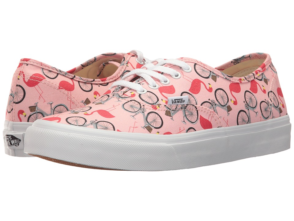 Vans - Authentic Slim ((Spring Multi) Tropical Peach/True White) Athletic Shoes