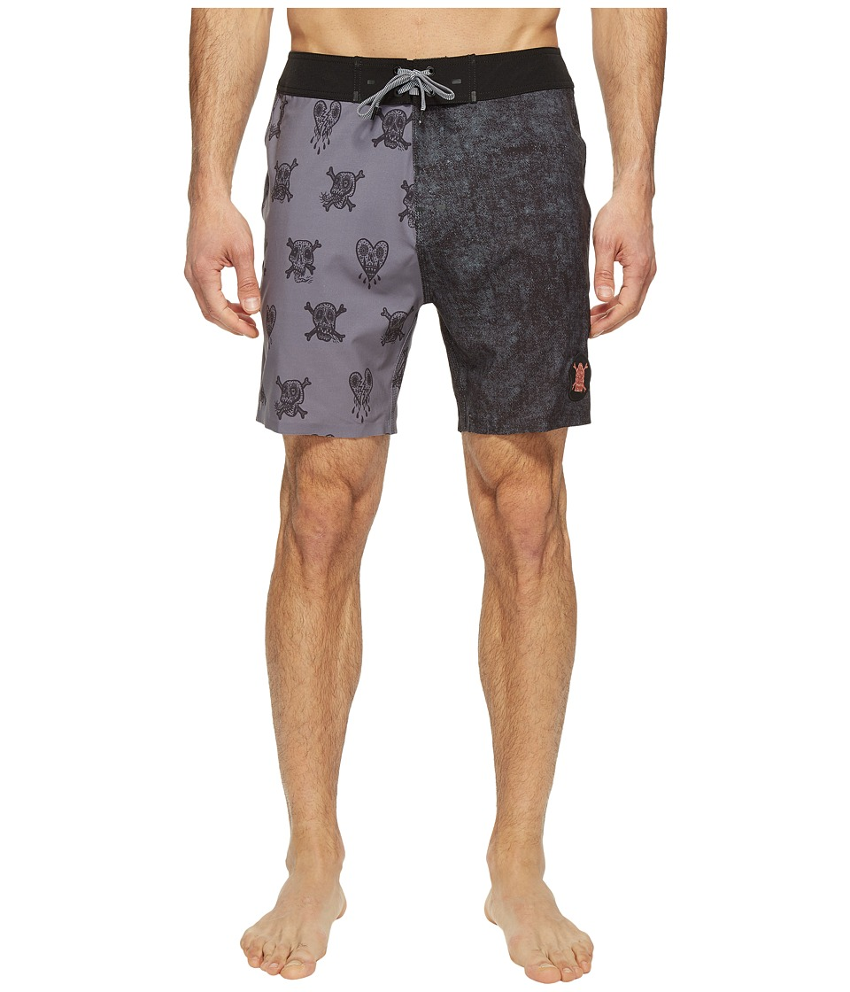 Globe - Evil Paradise Boardshorts (Coal) Men's Swimwear
