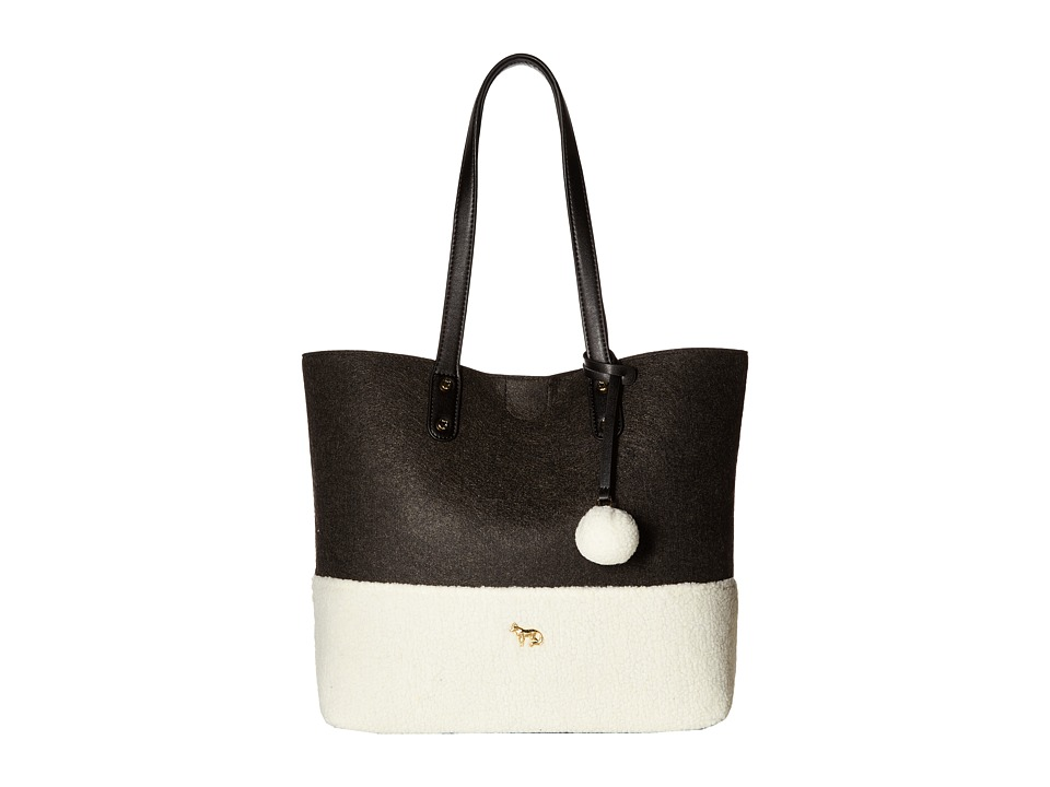Emma Fox - Caspian Felt Tote (Charcoal/Cream) Tote Handbags