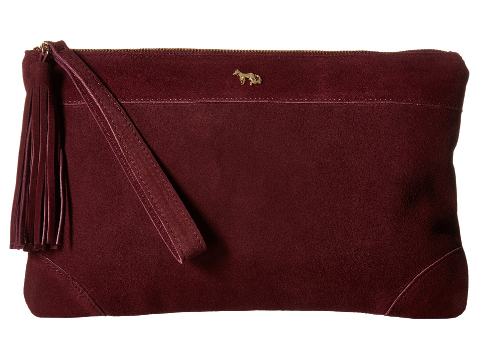 Emma Fox - Dales Clutch (Burgundy) Clutch Handbags