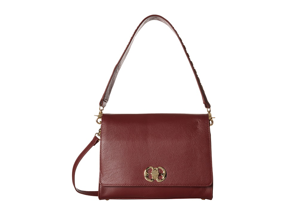 Emma Fox - Diva Boxy Shoulder (Burgundy) Shoulder Handbags