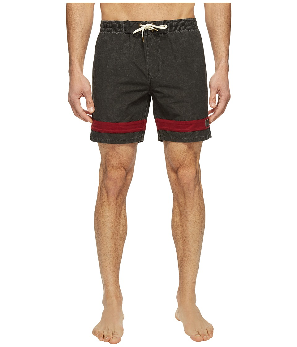 Globe - Dion Curb Poolshorts (Deep Red) Men's Swimwear