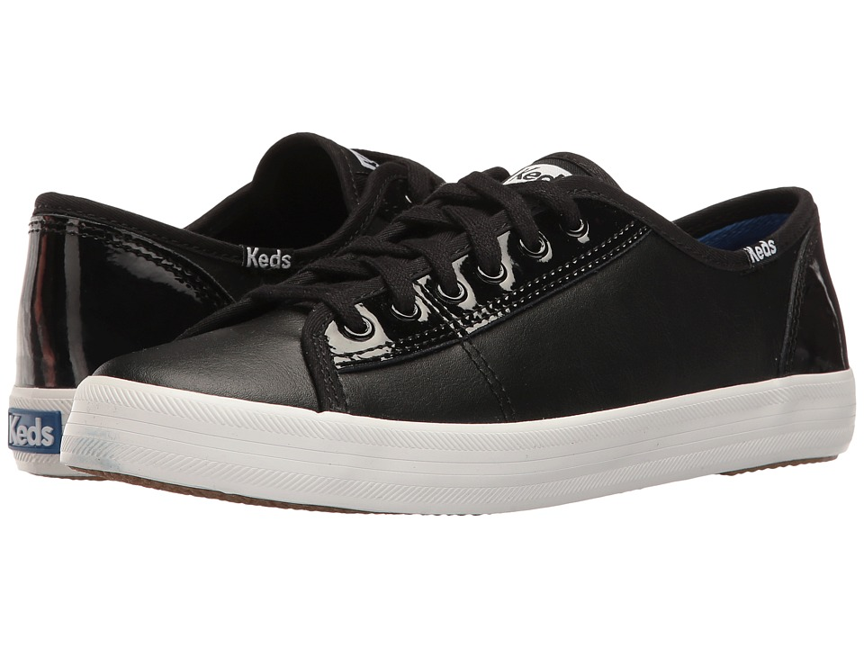 Keds - Kickstart Retro Court Patent (Black) Women's Lace up casual Shoes