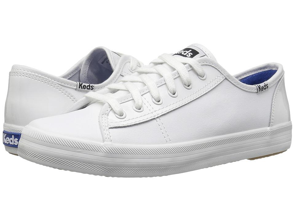 Keds - Kickstart Retro Court Patent (White) Women's Lace up casual Shoes