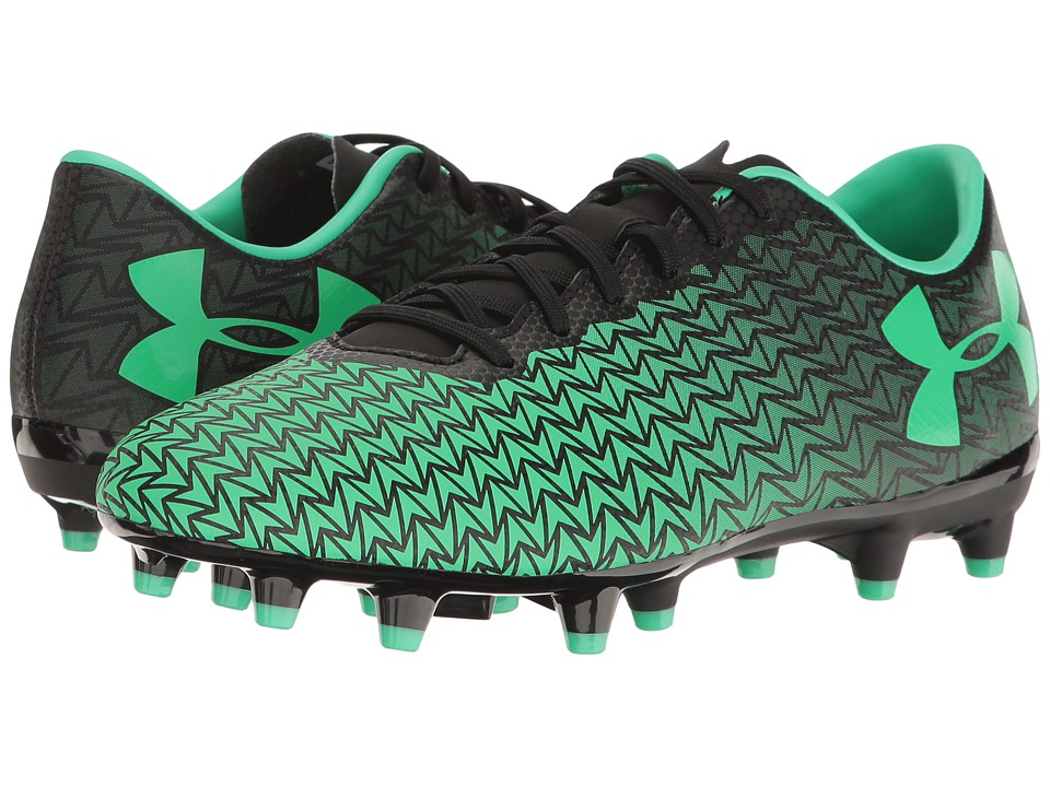 Under Armour - UA CF Force 3.0 FG (Black/Vapor Green) Women's Soccer Shoes