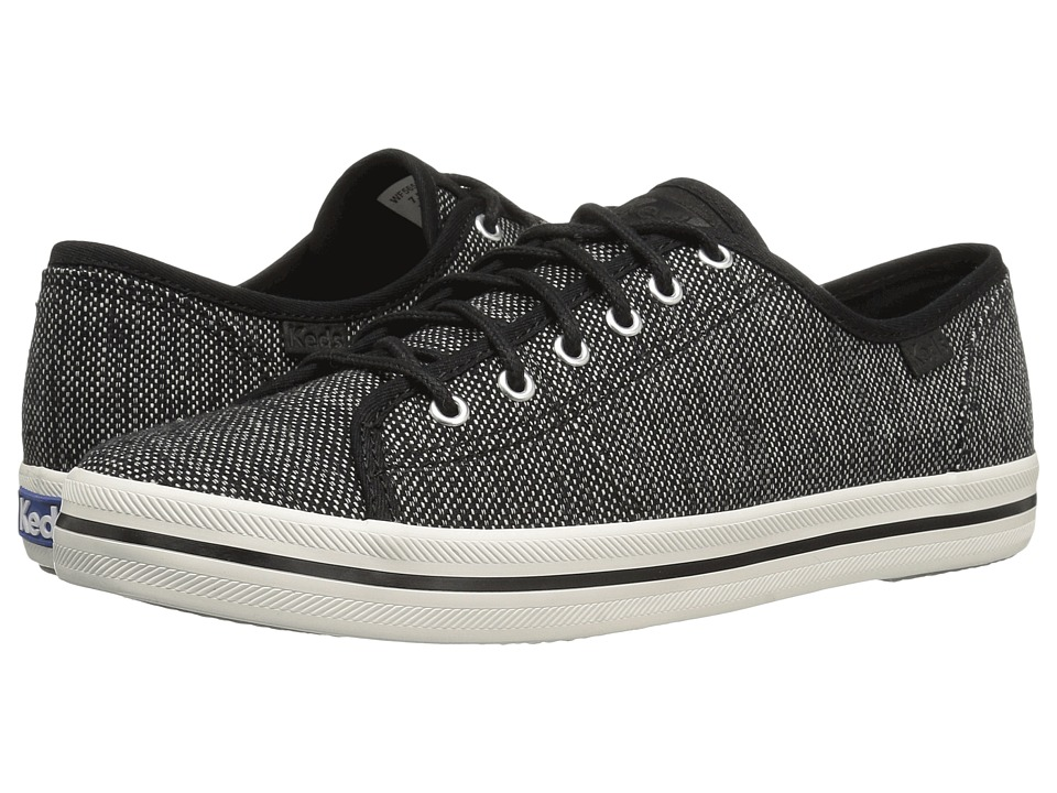 Keds - Kickstart Salt Pepper (Black) Women's Lace up casual Shoes