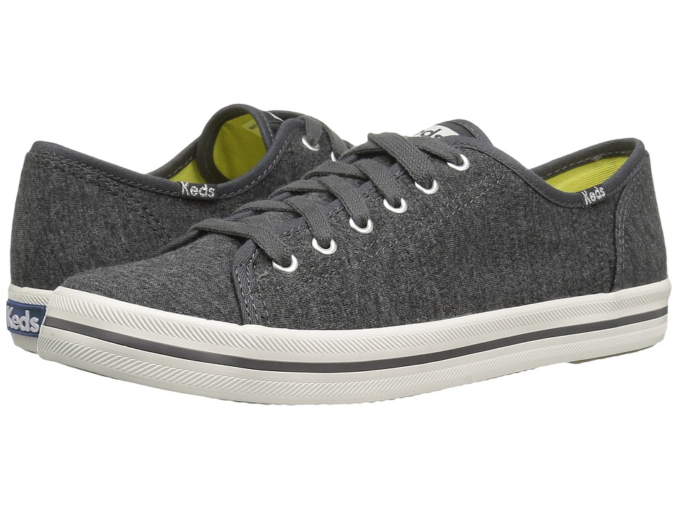 Keds - Kickstart Textured Jersey (Charcoal) Women's Lace up casual Shoes