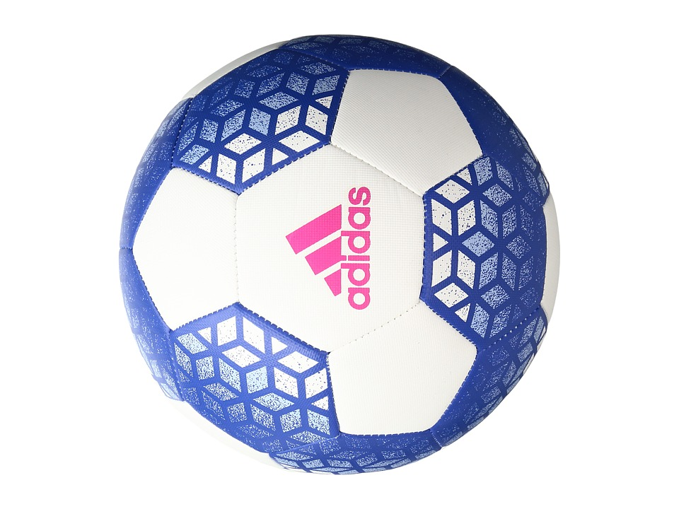 adidas - Ace GLider (White/Blue/Shock Pink) Athletic Sports Equipment