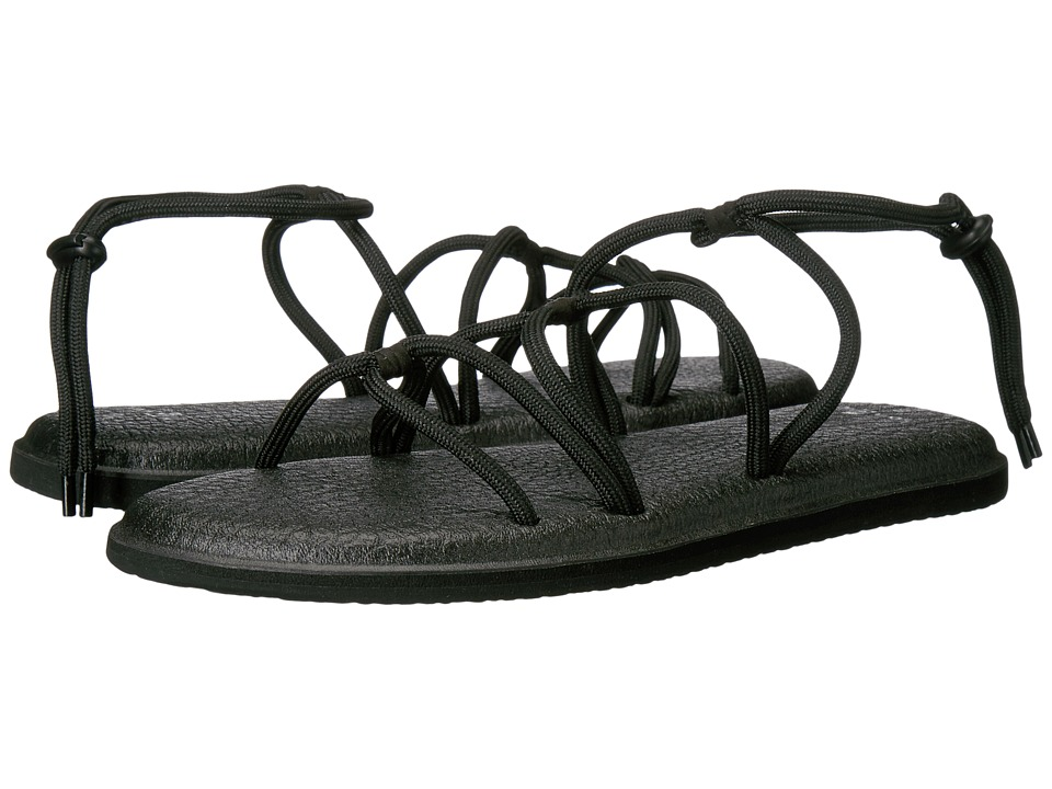 Sanuk - Yoga Sunrise (Black) Women's Sandals