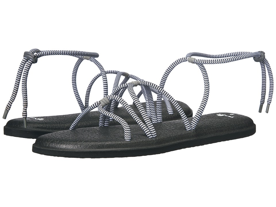 Sanuk - Yoga Sunrise (Black/White) Women's Sandals