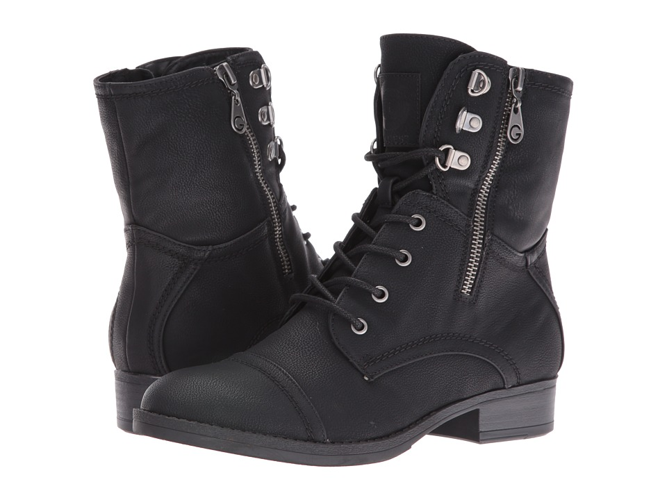 G by GUESS - Fleek (Black) Women's Lace-up Boots