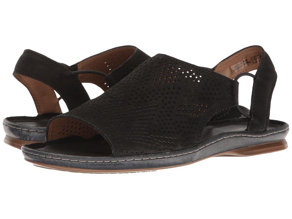 Clarks - Sarla Cadence (Black Nubuck) Women's Sandals