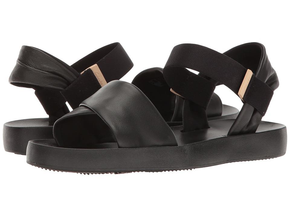Clarks - Seanna Sun (Black Leather) Women's Sandals