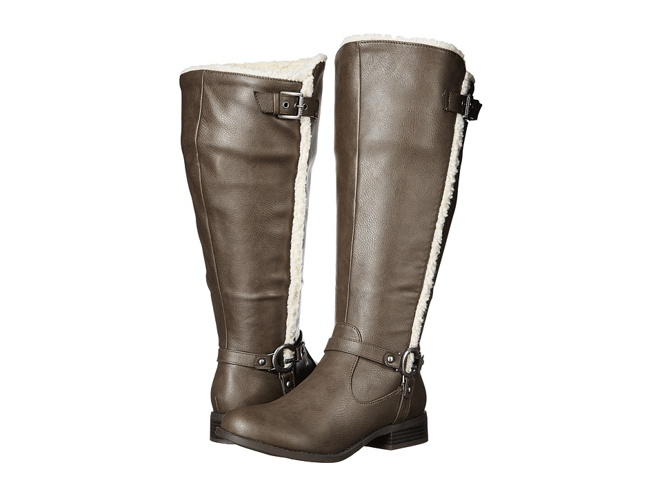 G by GUESS - Heyla Wide Calf (Taupe) Women's Boots
