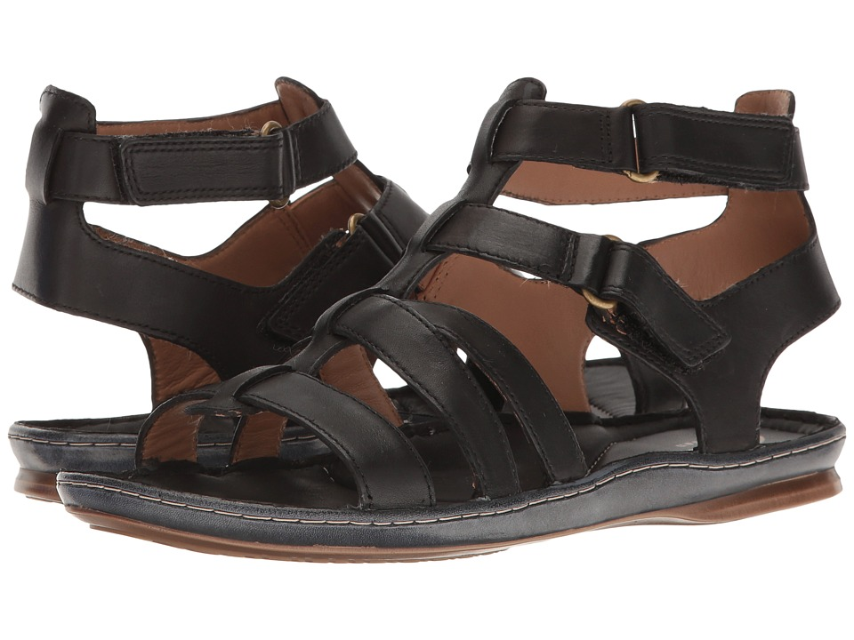 Clarks - Sarla Choir (Black Leather) Women's Sandals
