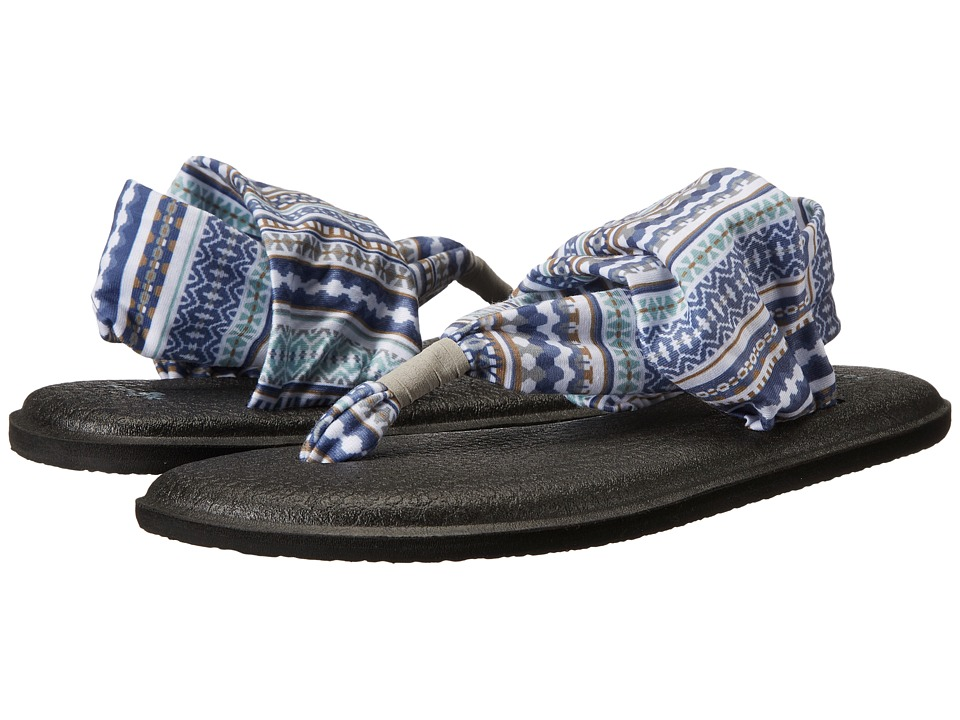 Sanuk - Yoga Sling 2 Prints (Lead Grey Lanai Blanket) Women's Sandals