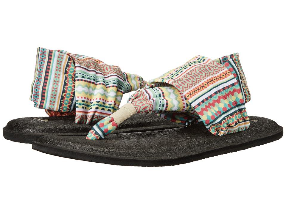 Sanuk - Yoga Sling 2 Prints (Citrus Lanai Blanket) Women's Sandals