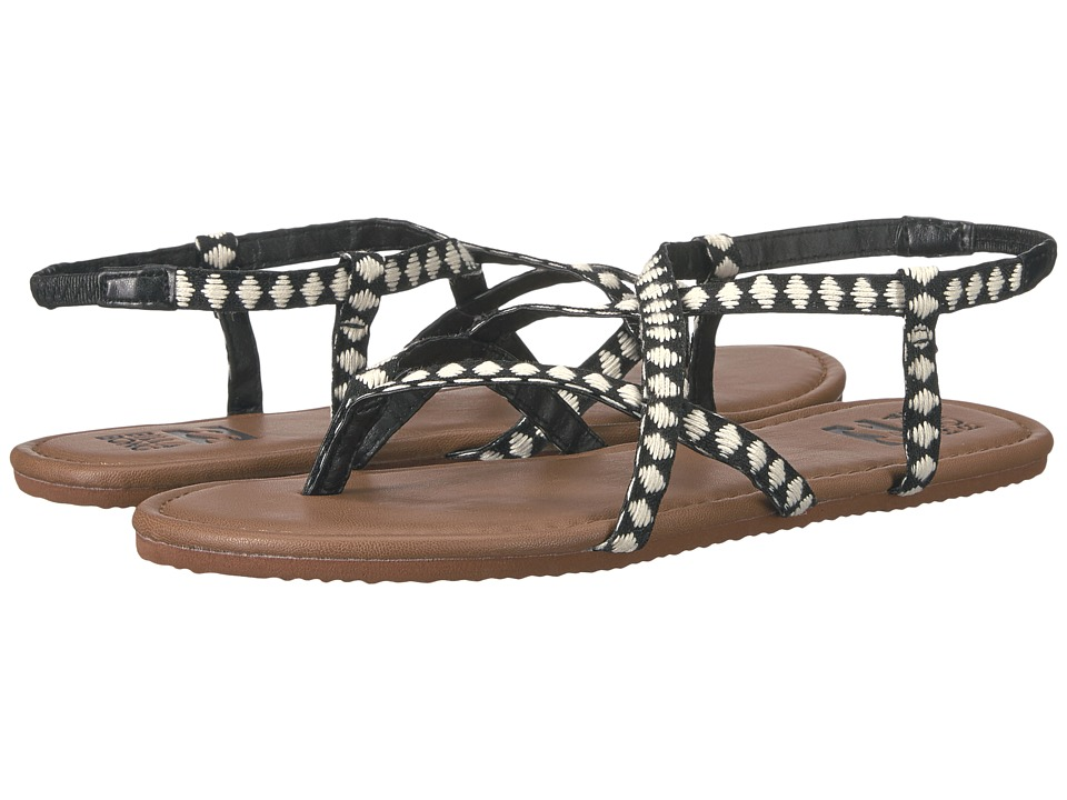 Billabong - Crossing Over (Black/White) Women's Sandals