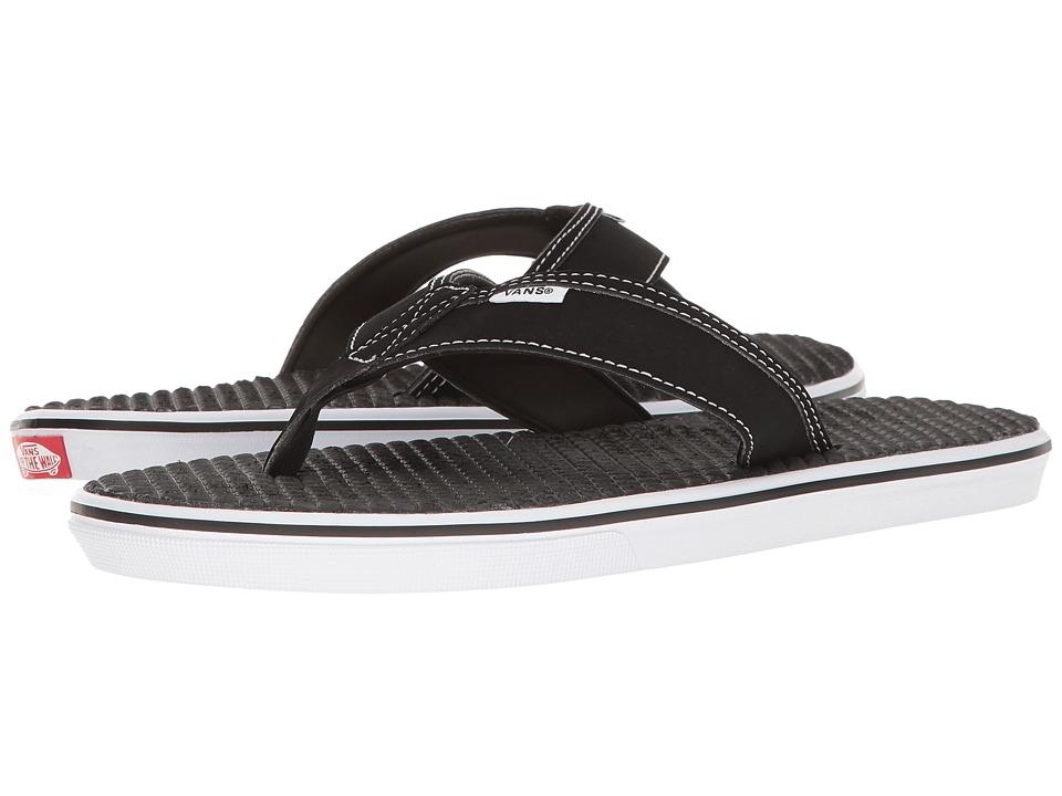Vans - La Costa Lite (Black/White) Men's Sandals