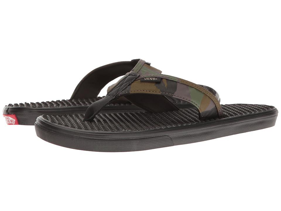 Vans - La Costa Lite ((Peace Leaf Camo) Black) Men's Sandals