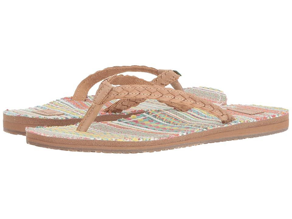Sanuk - Yoga Poncho Viva (Sand/Citrus Lanai Blanket) Women's Sandals