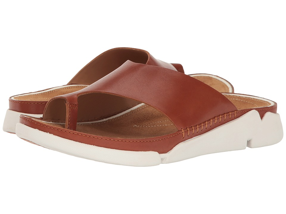 Clarks - Tri Alba (Tan Leather) Women's Sandals