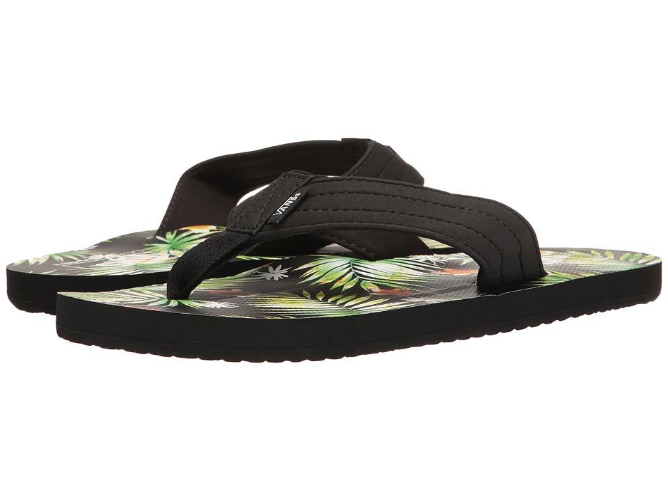 Vans - T Street Print ((Decay Palm) Black) Men's Sandals