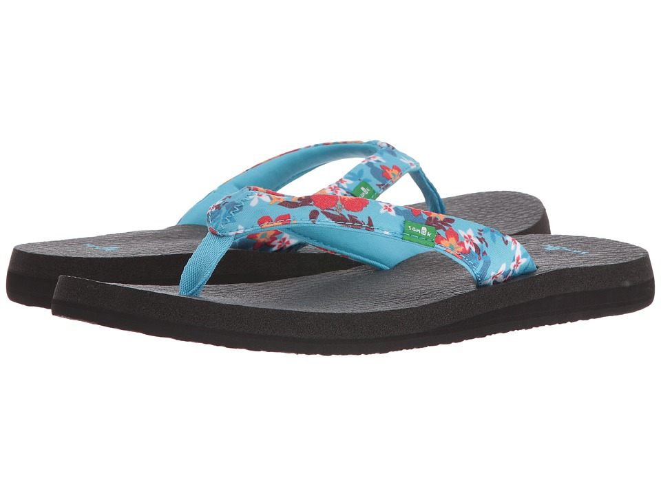 Sanuk - Yoga Meta (Aqua Waikiki Floral) Women's Sandals
