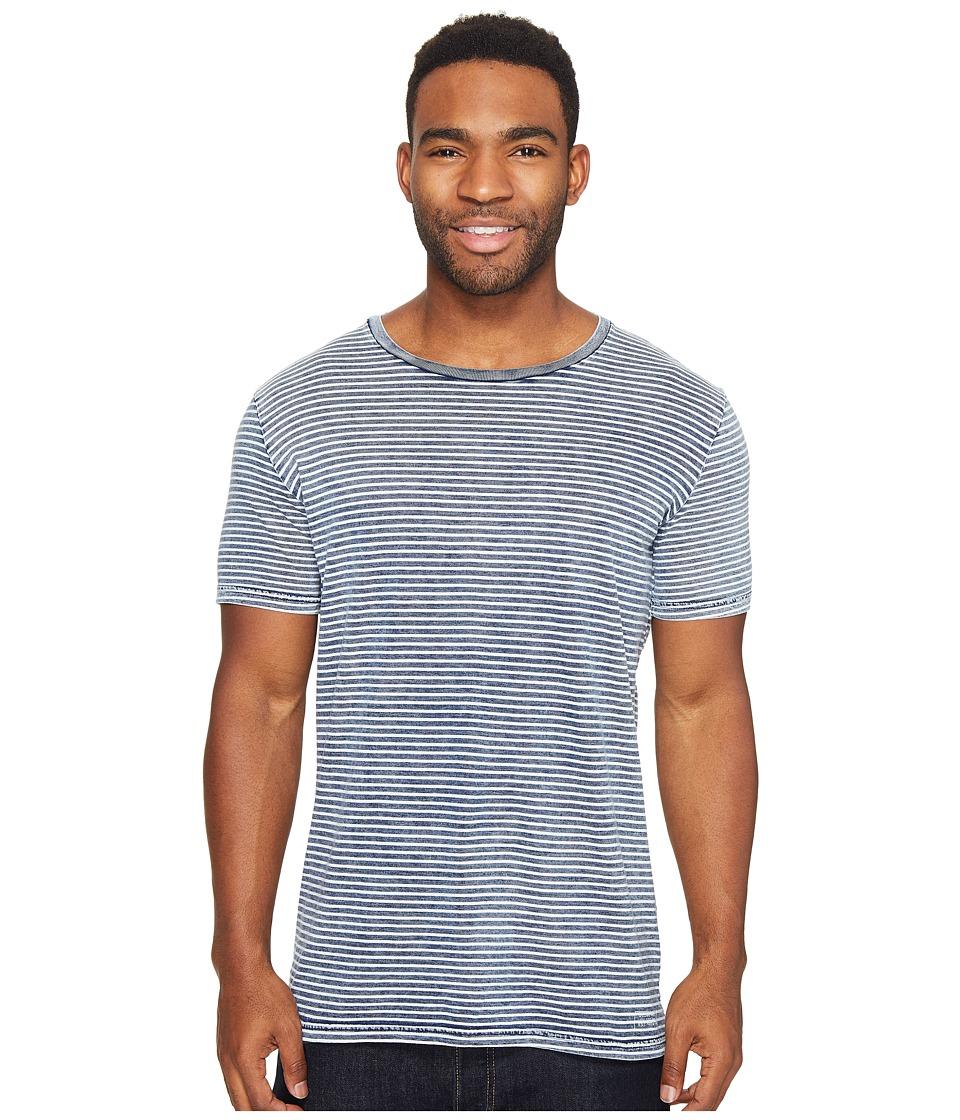 Globe - Moonshine Tee (Indigo Washed Stripe) Men's T Shirt