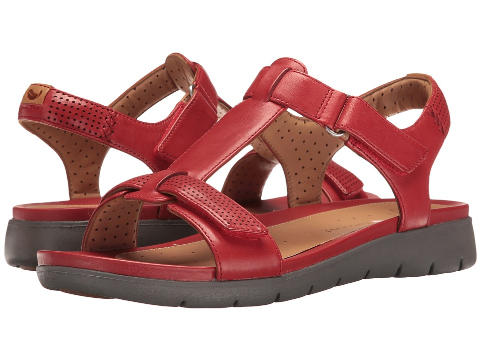 Clarks - Un Haywood (Red Leather) Women's Sandals