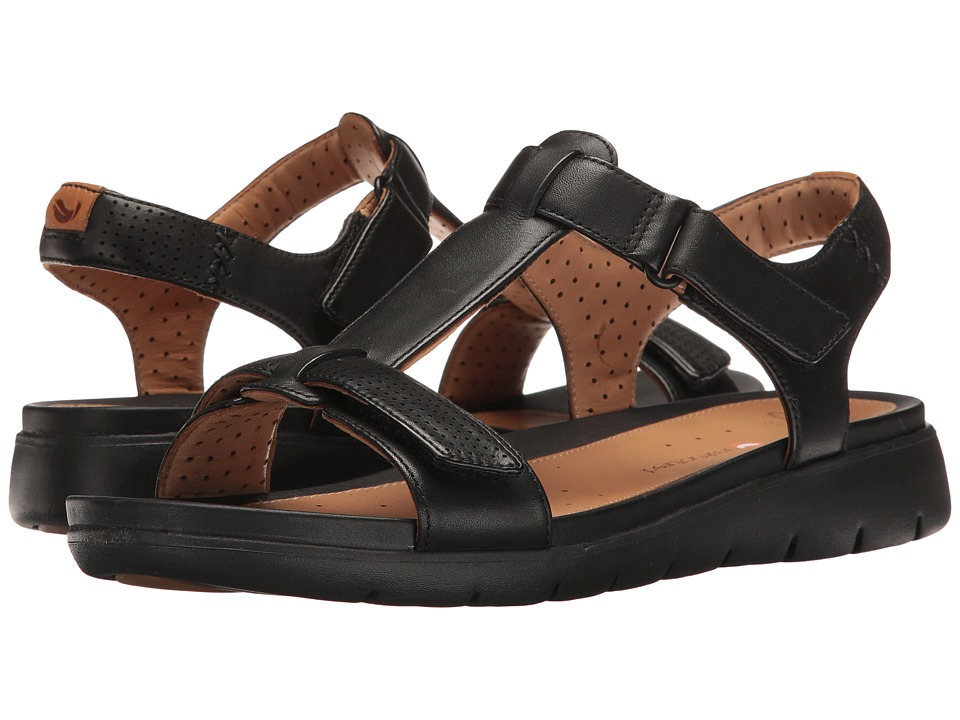 Clarks - Un Haywood (Black Leather) Women's Sandals