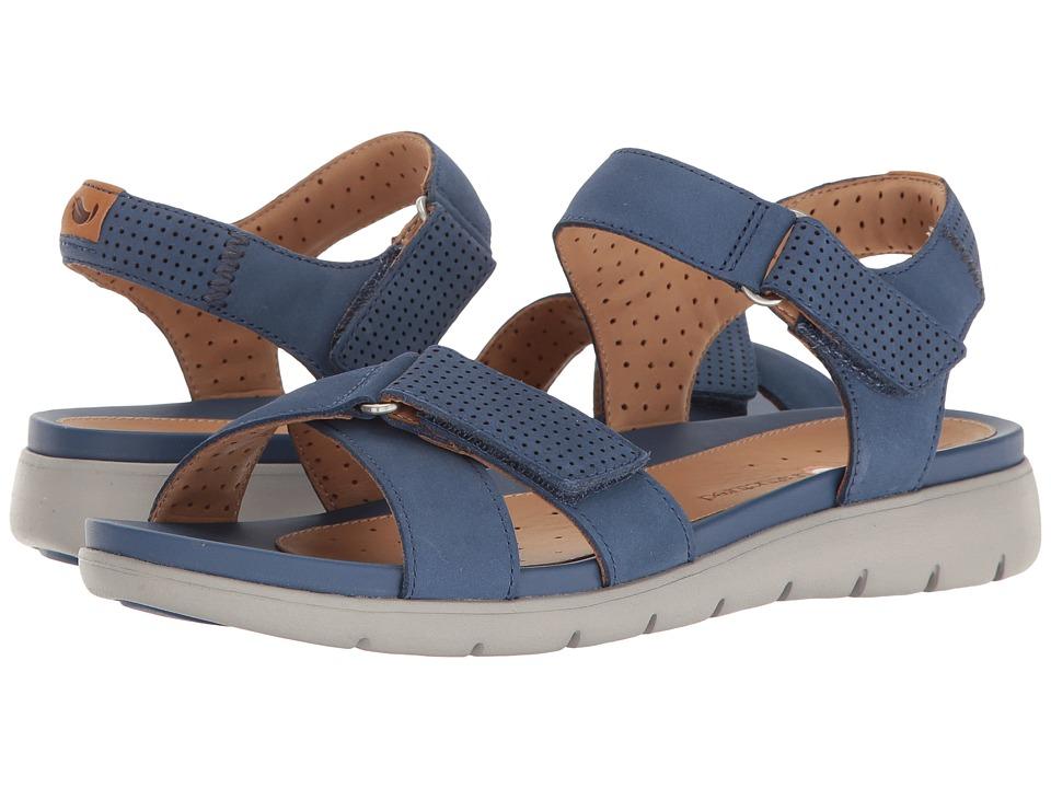 Clarks - Un Saffron (Dark Blue Nubuck) Women's Sandals