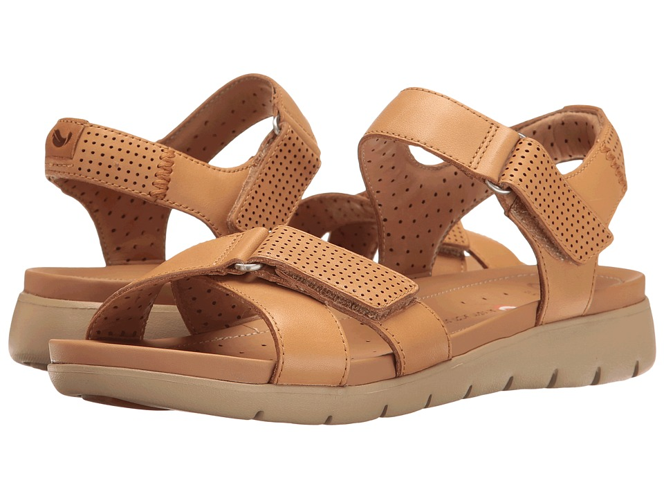 Clarks - Un Saffron (Light Tan Leather) Women's Sandals