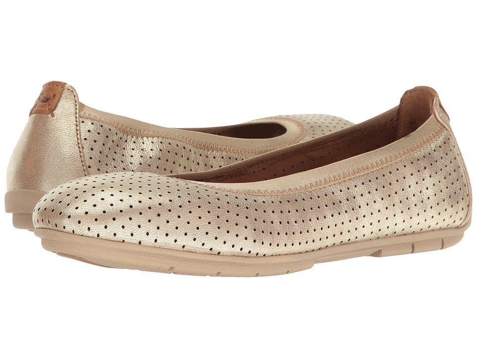 Clarks - Un Tract (Gold Metallic Leather) Women's Shoes