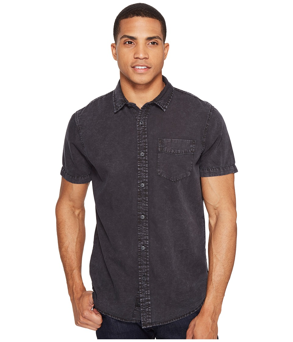 Globe - Goodstock Vintage Short Sleeve Shirt (Black) Men's Short Sleeve Button Up