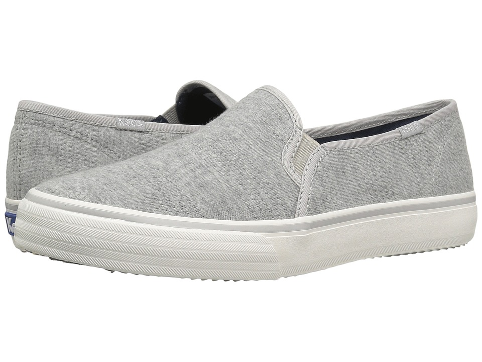 Keds - Double Decker Textured Jersey (Gray) Women's Slip on Shoes