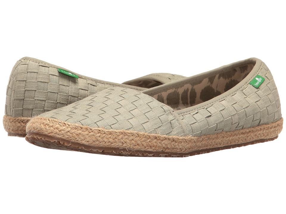 Sanuk - Basket Case (Olive Khaki) Women's Slip on Shoes
