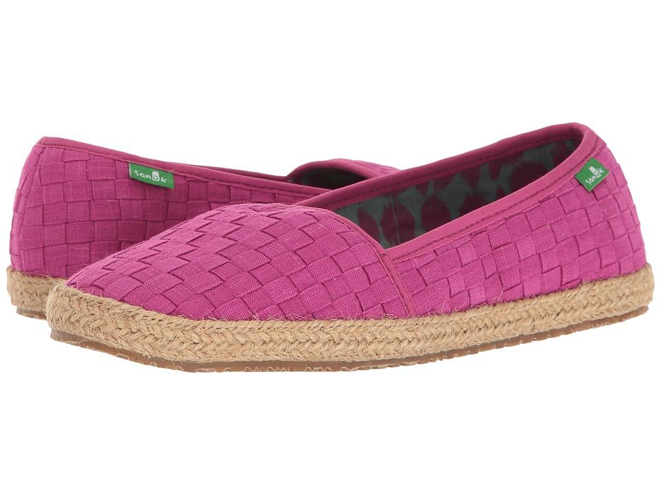 Sanuk - Basket Case (Vivid Violet) Women's Slip on Shoes