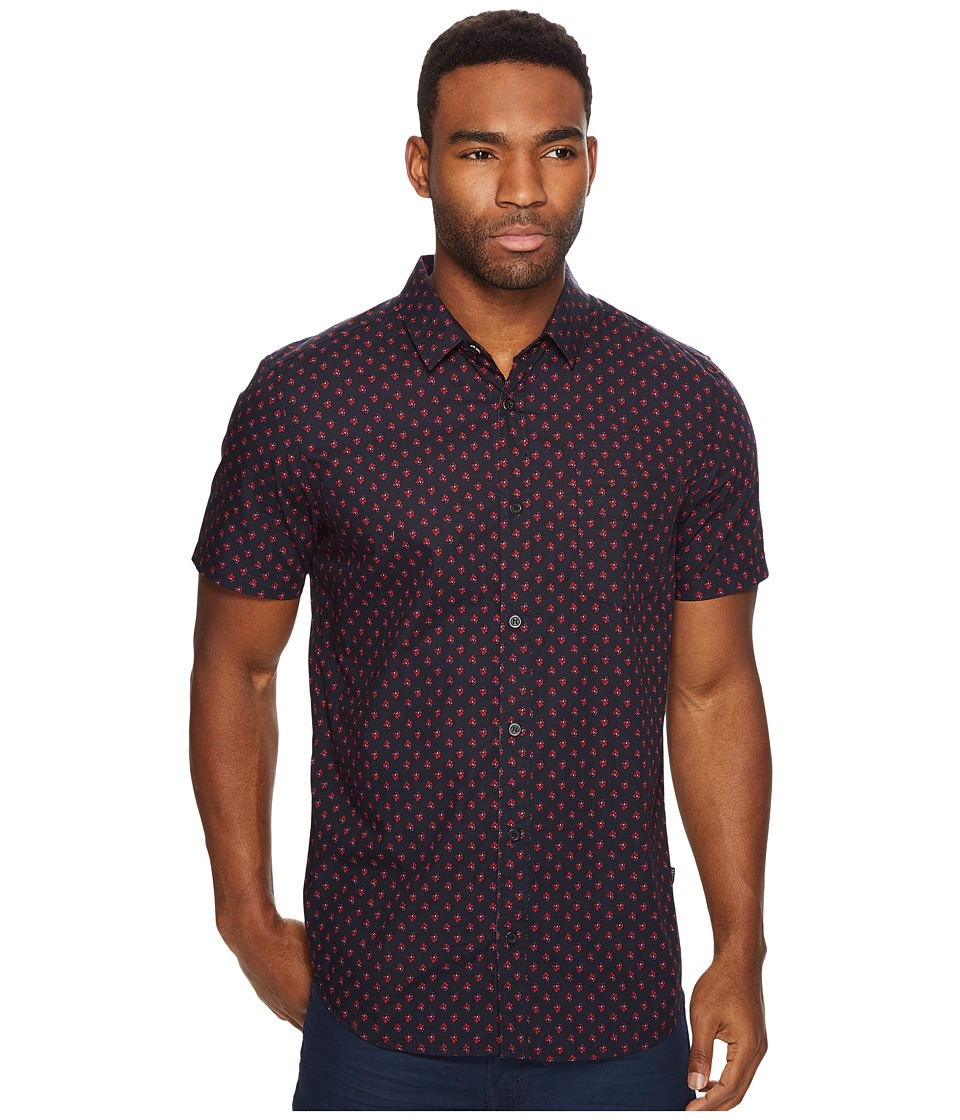 Globe - Florette Short Sleeve Shirt (Vintage Black) Men's Short Sleeve Button Up