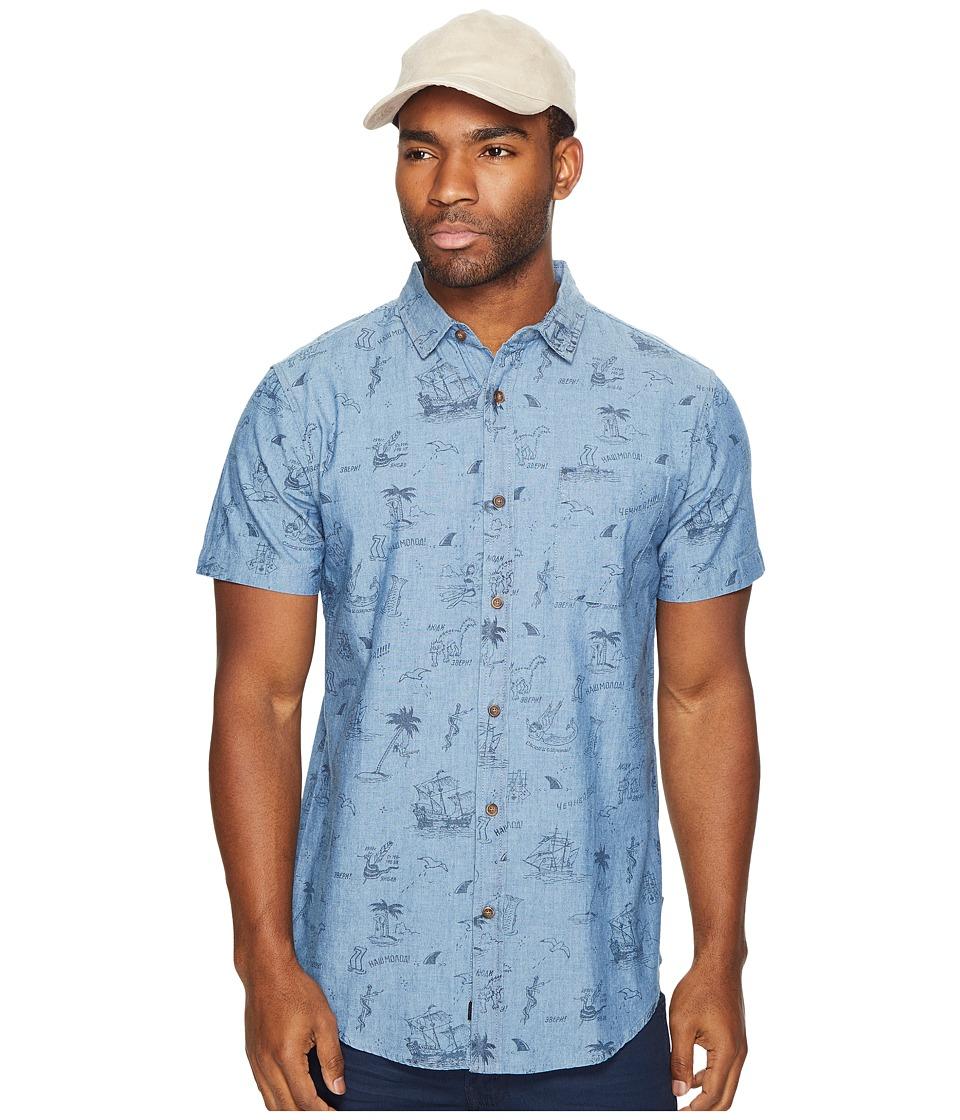 Globe - Creswick Short Sleeve Shirt (Indigo) Men's Short Sleeve Button Up