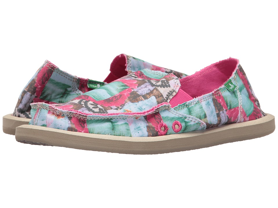 Sanuk - Donna Sea Tapestry (Sea Tapestry) Women's Slip on Shoes