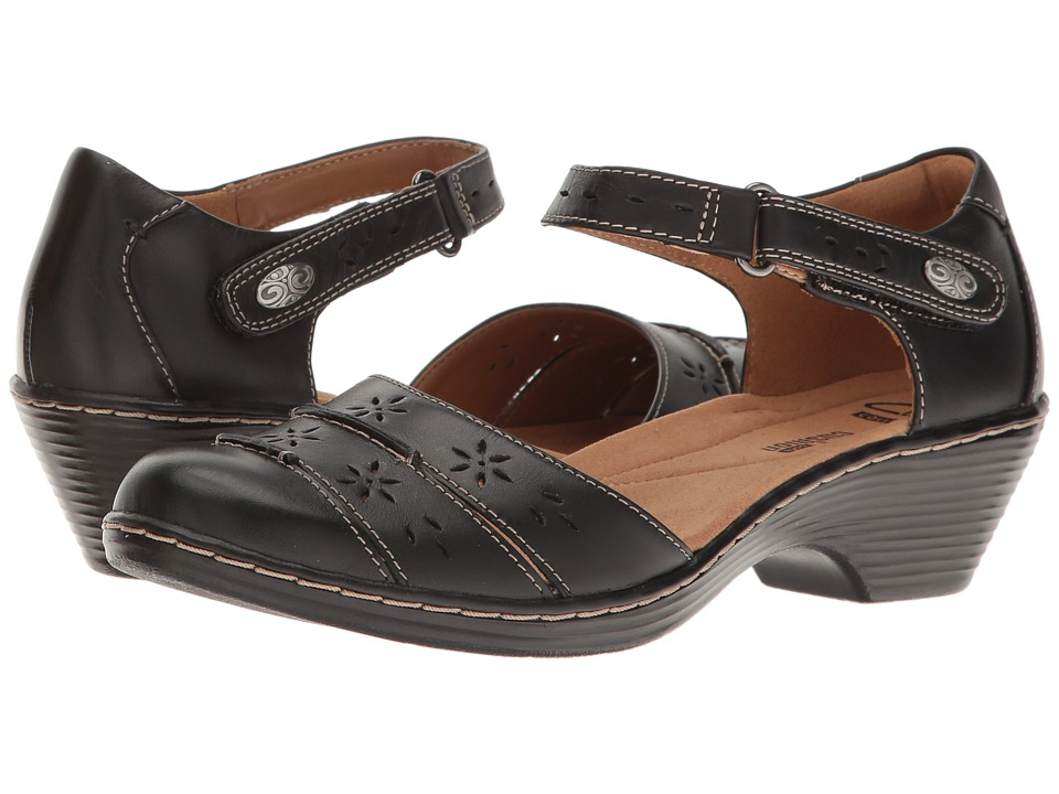 Clarks - Wendy Leehi (Black Leather) Women's Shoes