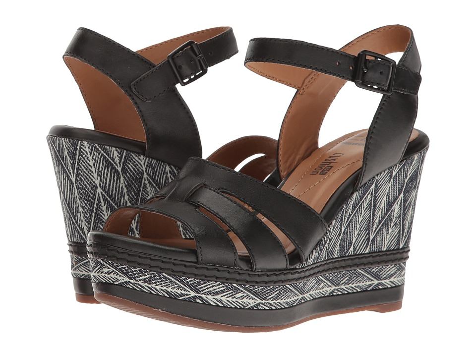 Clarks - Zia Noble (Black Leather) Women's Sandals